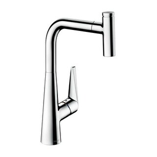 Hansgrohe 72821 Talis S 1.75 GPM Single Hole Kitchen Faucet with QuickClean and Select Technology