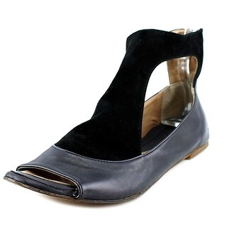 Kudeta Kuja Women  Open-Toe Leather Black Flats