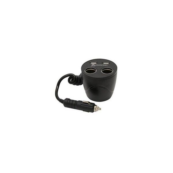 Mobilespec r mscup22usb 12v 2 2 cup holder power outlet