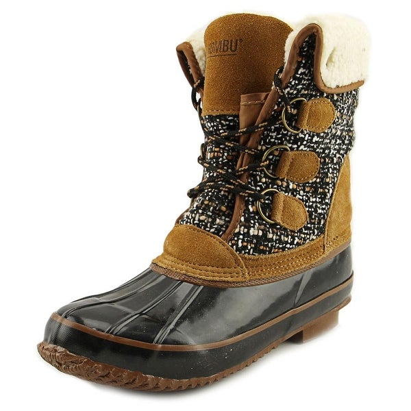 Khombu Jenna Women Black/Tan Snow Boots