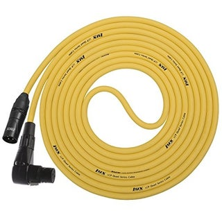 LyxPro - 20 Ft XLR Male to Right Angle Female Star Quad Microphone Cable for High End Quality and Sound Clarity