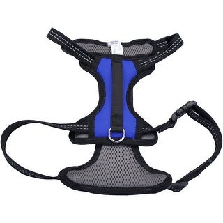 06489BLM Coastal Reflective Control Handle Harness-Blue Medium