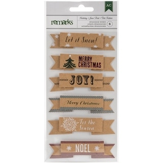 Holiday Remarks Layered Stickers-Let It Snow