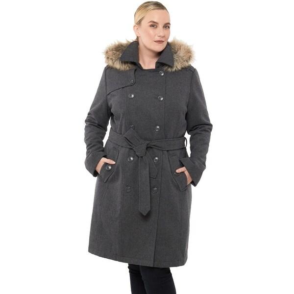 Alpine Swiss Womens Parka Trench Pea Coat Belt Jacket Fur Hood Reg & Plus Sizes. Opens flyout.