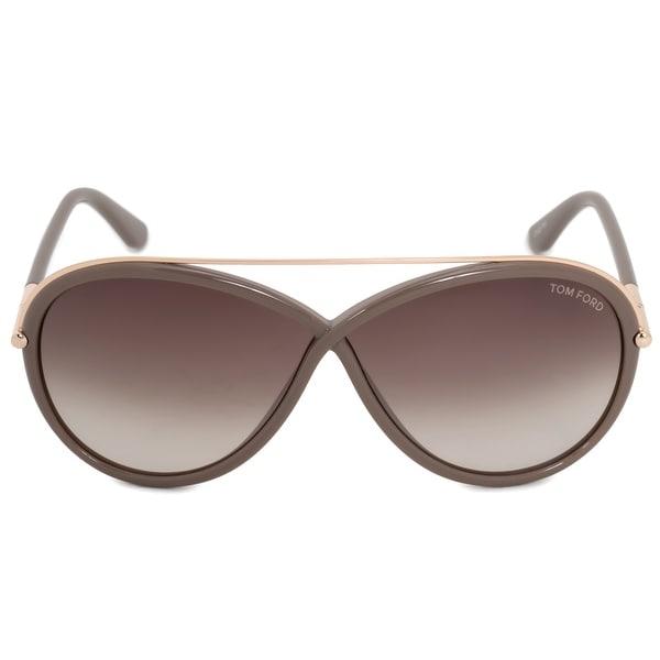 b54702e98c22 Shop Tom Ford Tamara Oval Sunglasses FT0454 59K 64 - Free Shipping ...