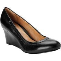 Vionic Women's Camden Wedge Pump Black Leather