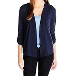 Splendid NEW Navy Blue Women's Size XL Cardigan Open-Front Solid Sweater