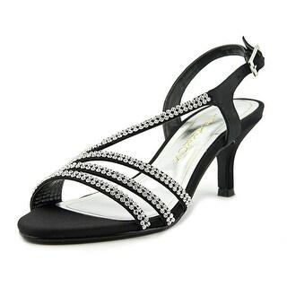 Caparros Bethany Women Open Toe Satin Black Sandals
