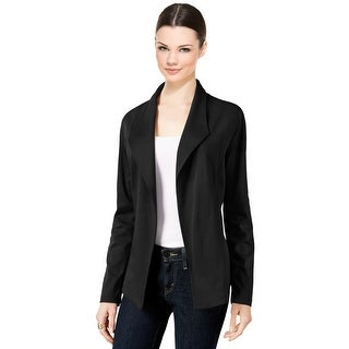 Style & Co Open Front Long Sleeve Blazer Jacket - xs