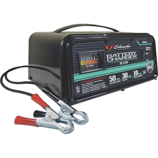 Schumacher SE12-50 Manual Traditional Battery Charger, 10/30/50 Amp