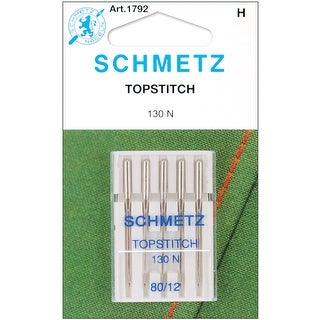 Topstitch Machine Needles-Size 12/80 5/Pkg - size 12/80 5/pkg