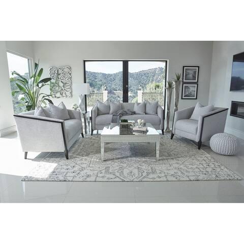 Whitfield Dove Grey Sloped Arm Living Room Set