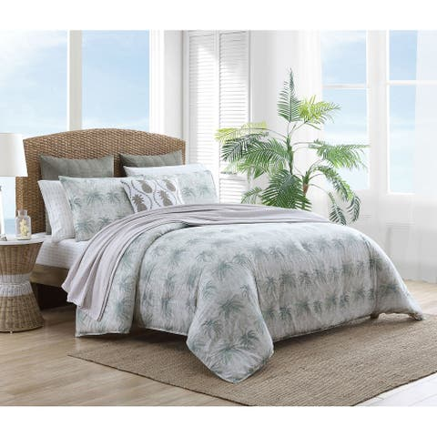 Tommy Bahama Distressed Palm Cotton Comforter Set