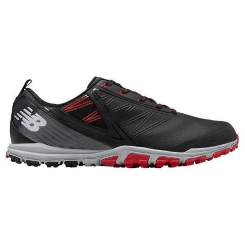 Men's New Balance Minimus SL Black/Red Golf Shoes NBG1006BRD-W (WIDE)