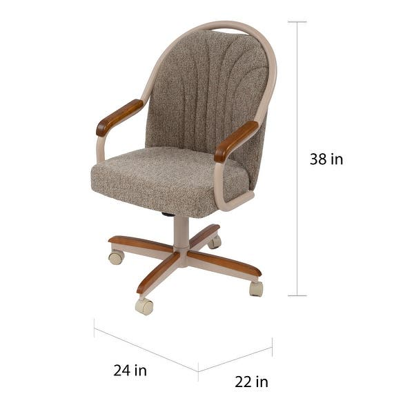 Casual Dining Cushion Swivel And Tilt Rolling Caster Chair On Sale Overstock 7924246