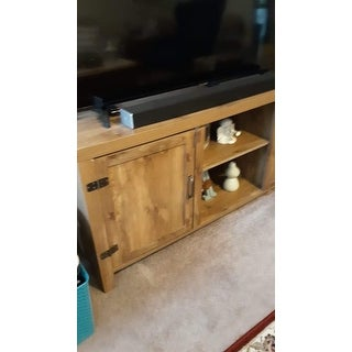 The Gray Barn Firebranch 58-inch Barn Door TV Stand Console - 58 x 16 x 24h