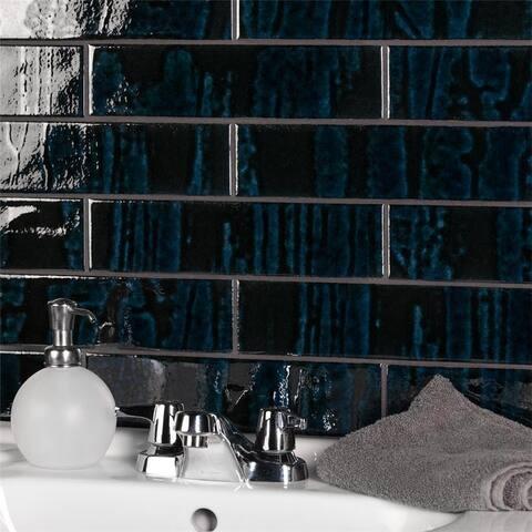 "SomerTile Joilet Sapphire 2.86"" x 1.63"" Ceramic Wall Tile"