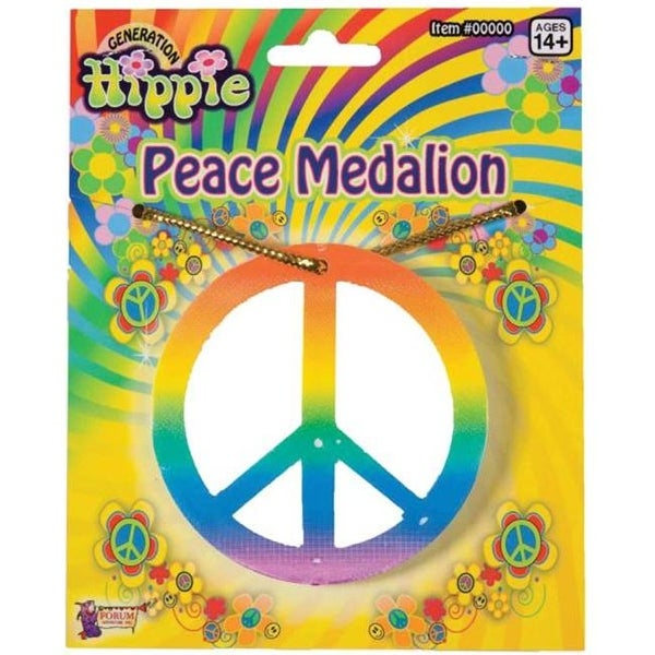 f1704ebafd4 Shop Costumes for all Occasions FM64141 Rainbow Peace Medallion - Free  Shipping On Orders Over  45 - Overstock.com - 22943622
