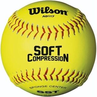 "Wilson A9117 Ultra Grip Soft Compression SST Softball (12-Pk, Optic Yellow, 12"")"