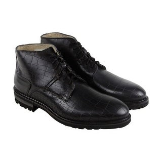GBX Breccan Mens Black Leather Casual Dress Lace Up Boots Shoes (5 options available)