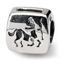 Sterling Silver Reflections Sagittarius Zodiac Antiqued Bead (4mm Diameter Hole) - Thumbnail 0