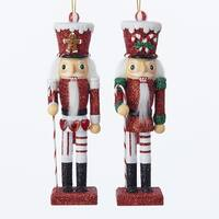 Club Pack of 12 Red and White Soldier Christmas Decorative Nutcracker Ornaments 6""