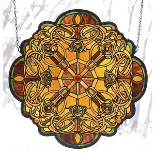 Meyda Tiffany 71235 Stained Glass Tiffany Window from the Dublin Collection - n/a