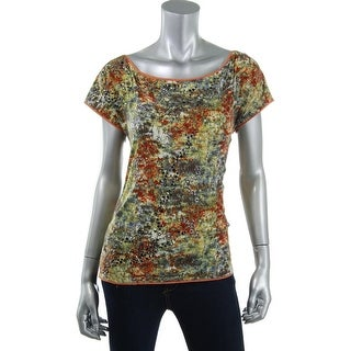 Catherine Malandrino Womens Silk Blend Blouse Pullover Top - S