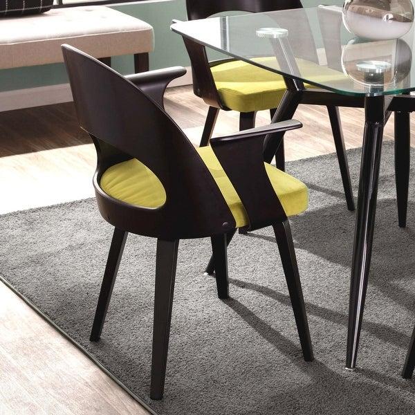 Carson Carrington Kansta Espresso & Velvet Mid-century Modern Dining Table. Opens flyout.