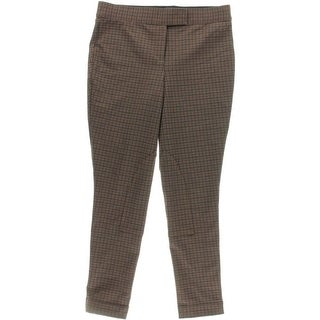 Anne Klein Womens Tattersall Casual Riding Pants