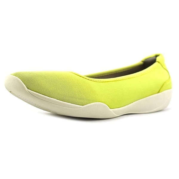 Stretchies Joyce Women W Round Toe Synthetic Yellow Flats