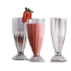 Palais Glassware 'Crème Glacée' Collection High Quality Set of 4 Sundae Glasses (13 oz, Optic Glass)