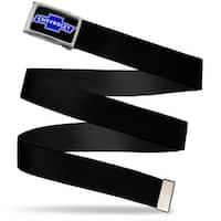 Chevy Bowtie Fcg Black Chrome Black Webbing Web Belt