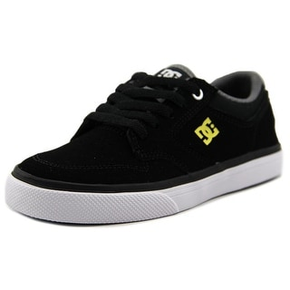 DC Shoes Nyjah Vulc Nu Youth Round Toe Leather Black Sneakers