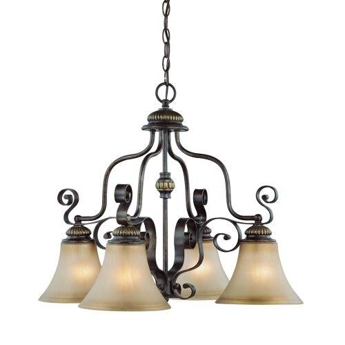Jeremiah Lighting 26524 Kingsley Single Tier 4 Light Chandelier - 25.5 Inches Wide