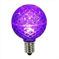 Club LED G50 Purple Replacement Christmas Light Bulbs - E17