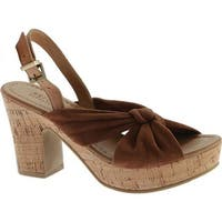 Kenneth Cole Reaction Women's Tole Booth Heel Sandal Tan Suede