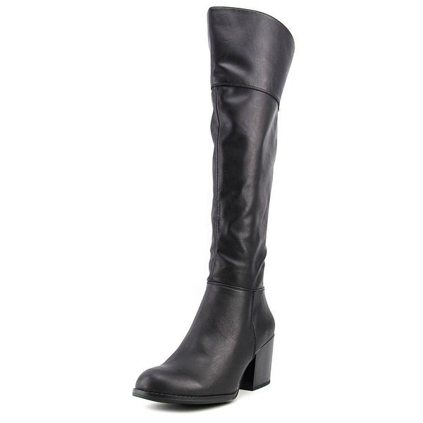 Madden Girl Wendiee Women Round Toe Synthetic Black Over the Knee Boot