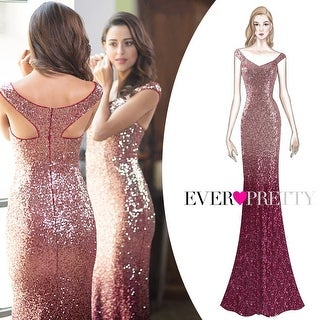 Ever-Pretty Women Elegantand Graceful Sequin Long Sparkle Evening Party Dress 08999