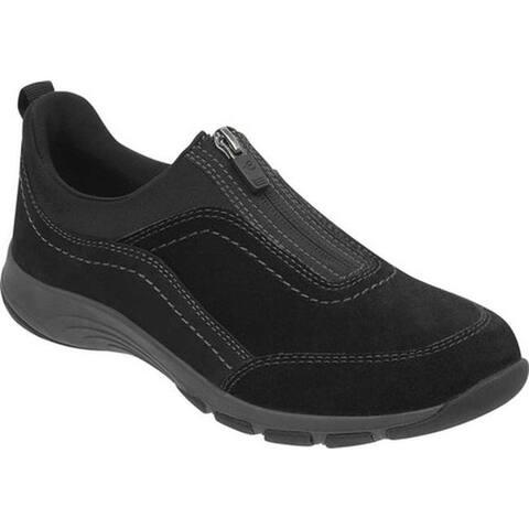 Easy Spirit Women's Cave Zip Up Sneaker Black Textile