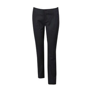 INC International Concepts Women's Straight Leg Curvy Fit Pants - Deep Black - 2