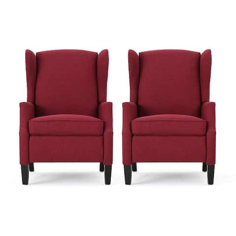 Wescott Contemporary Fabric Recliner (Set of 2) by Christopher Knight Home