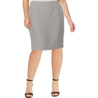 Le Suit Womens San Juan Pencil Skirt Jacquard Checkered - 18