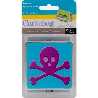 "Cuttlebug Combo Die-Beware, 3""X3"""
