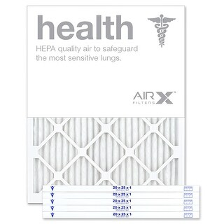 Replacement Air Filter 20x25x1 MERV 13 Comparable to Filtrete Healthy Living MPR 1500 1550 1900 2200 2400, 6Pk