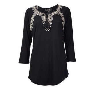 Style & Co Women's Flamboyant Top Keyhole Blouse