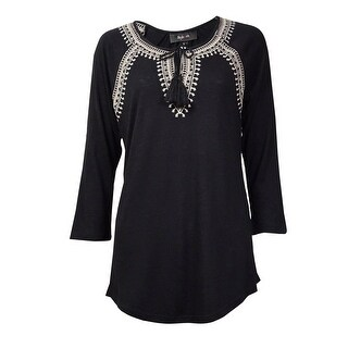 Style & Co Women's Flamboyant Top Keyhole Blouse