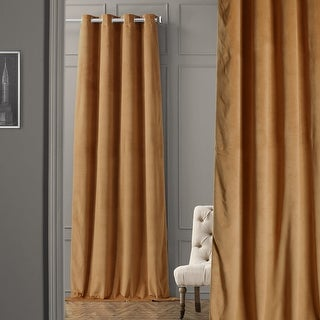 Link to Exclusive Fabrics Signature Blackout Velvet Grommet Top Curtain Panel Similar Items in Curtains & Drapes