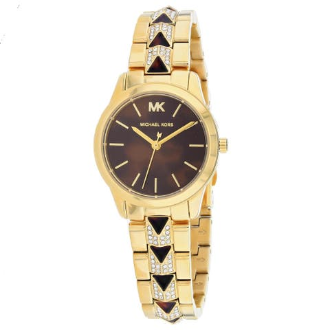 Michael Kors Women's Runway Brown Dial Watch - MK6855 - One Size