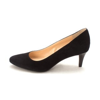 Cole Haan Womens Melaniesam Closed Toe Classic Pumps Black Suede Size 6.0